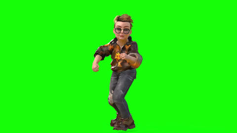 540 4k 3d animated avatar very nice small boy boxing Animation