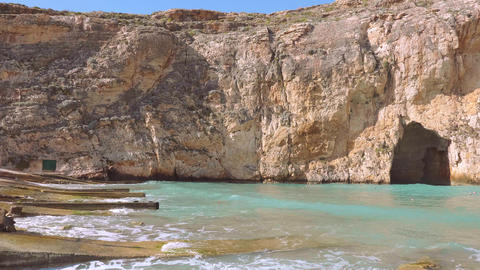 Popular landmark on the Island of Gozo - the Inland Sea Live Action
