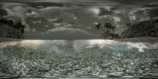 VR 360 Soft twilight of the amazing tropical marine beach Live Action