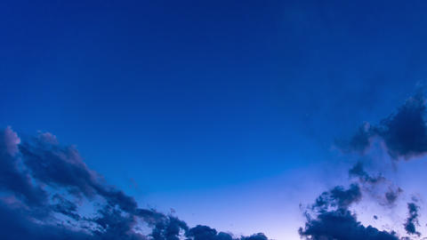 4K beautiful blue sky timelapse spring sky dusk sunset Live Action