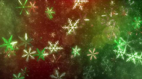 4K CGBG SeamlessLoop Snowflakes Christmas color Videos animados