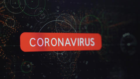 Coronavirus - Covid -19 Warning Alert Live Action