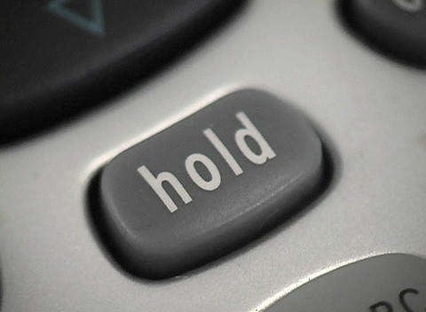 A shot of the hold button on a phone Stock Video Footage