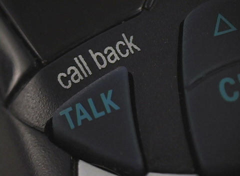 A of the talk button on a phone Stock Video Footage