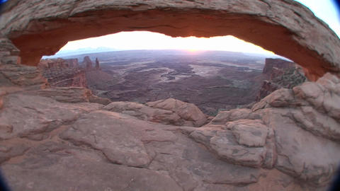 Mesa Arch in Canyonlands National Park Stock Video Footage
