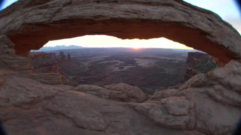 Mesa Arch in Canyonlands National Park Footage