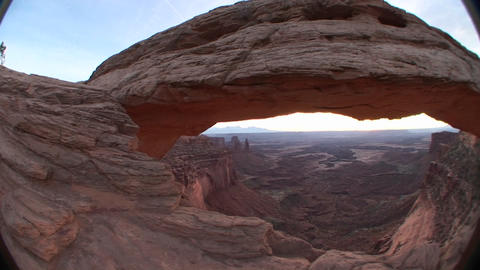 Mesa Arch in Canyonlands National Park, Utah Stock Video Footage