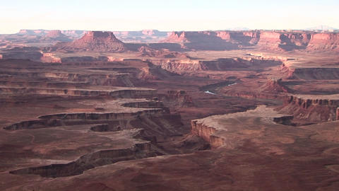 The amazing canyons of the desert Southwest during the... Stock Video Footage