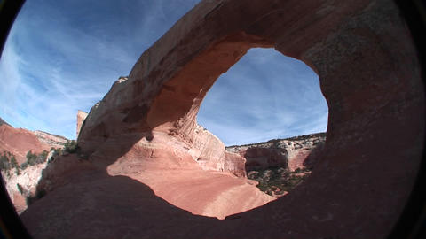 A giant arch in the American Southwest Stock Video Footage
