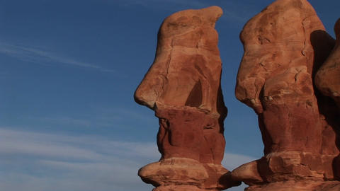 Close-up of unusual rock formations in Canyonlands... Stock Video Footage