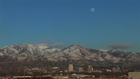 Long shot of Salt Lake City, Utah Stock Video Footage