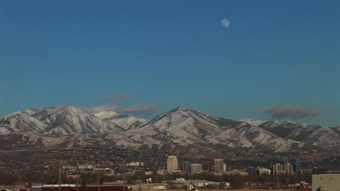 Long shot of Salt Lake City, Utah Footage