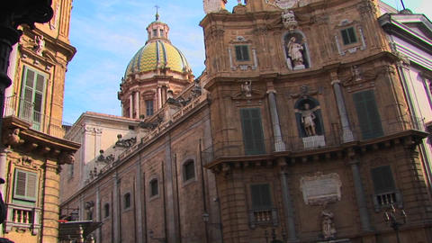 A Roman Catholic Cathedral in Palermo, Italy as seen in... Stock Video Footage
