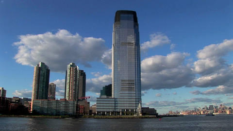 The skyline of Hoboken, New Jersey Stock Video Footage