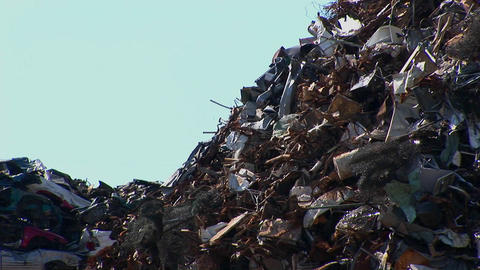 A tall pile of waste Stock Video Footage