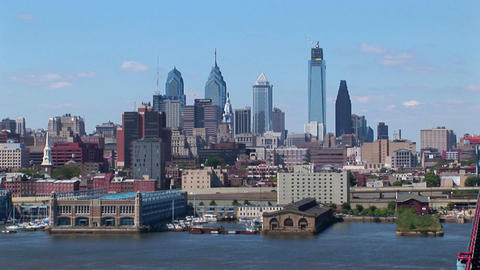 Philadelphia, Pennsylvania at day Stock Video Footage