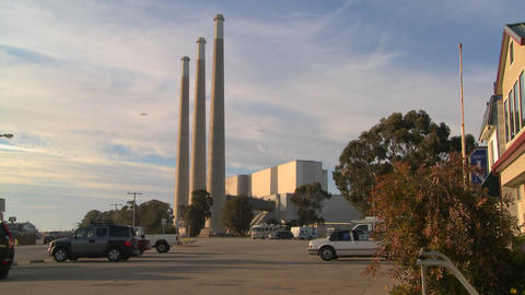 A large power plant against the sky Stock Video Footage