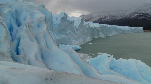 A stationary shot from the edge of a glacier Stock Video Footage