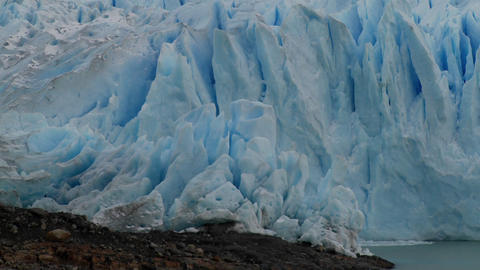 A the blue ice of a glacier Footage