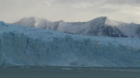 A wide shot of a glacier in distance Footage