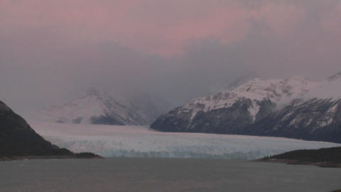 Sunrise over a glacier Footage