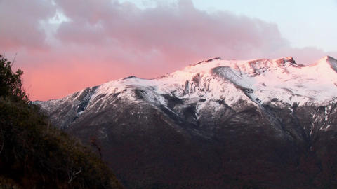 Sunrise over snowy mountains Stock Video Footage
