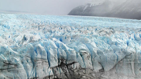 A vast arctic glacier with ice stretching into the distance Stock Video Footage