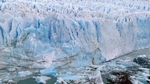 The Perito Moreno glacier in Argentina Footage