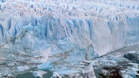 The Perito Moreno glacier in Argentina Stock Video Footage