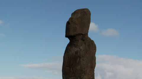 Time lapse of a mystical statue on Easter Island Stock Video Footage