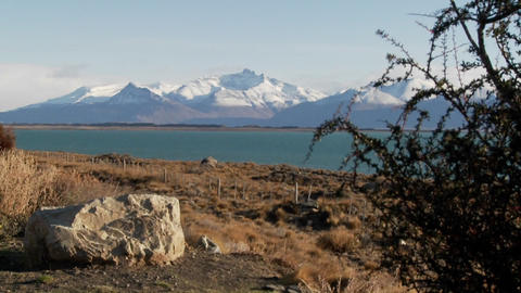 Lake Argentina in the beautiful Andes region of Patagonia Footage