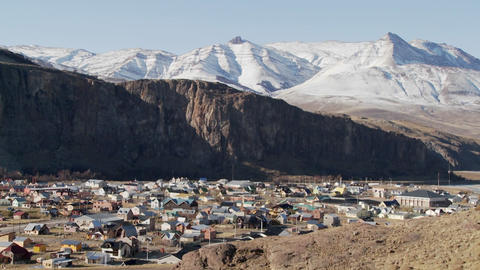 The town of El Chalten in one of the most remote regions... Stock Video Footage