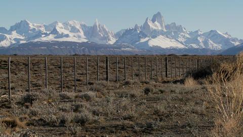 Pan across a fenced region in the far Southern region of... Stock Video Footage