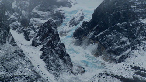 Gorgeous lakes and glaciers in the remote Andes... Stock Video Footage