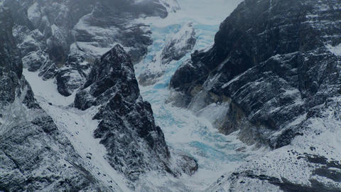 Gorgeous lakes and glaciers in the remote Andes mountains, Patagonia Footage