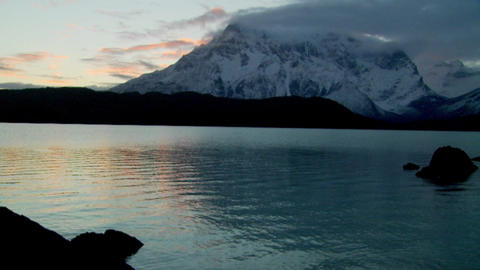 A green lake in Patagonia, Argentina Stock Video Footage