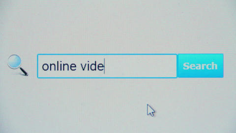 Online videos - browser search query, Internet web page Footage