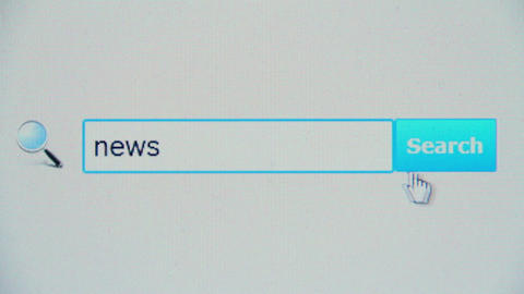 News - browser search query, Internet web page Footage