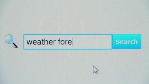 Weather forecast - browser search query, Internet web page Live Action