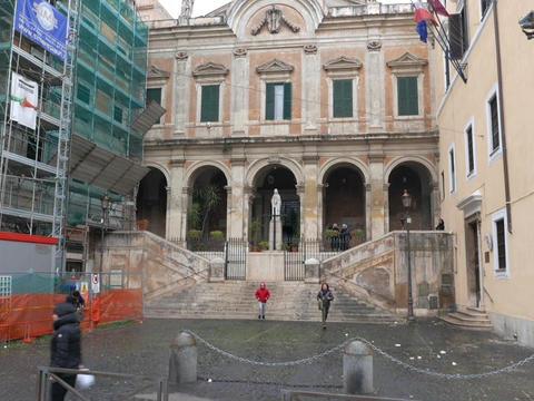 Saint Eusebio. Rome, Italy Live Action