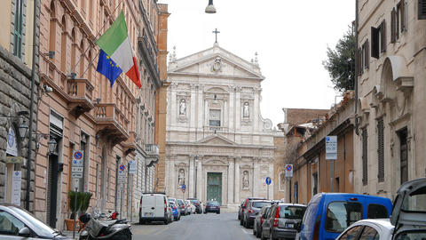 Chiesa di Santa Susanna alle Terme di Diocleziano. Rome, Italy Footage