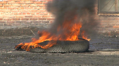 Burning tire Live Action