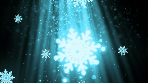 Christmas Snowflakes 5 Loopable Background Animation