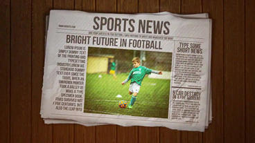 Newspaper Intro After Effects Project