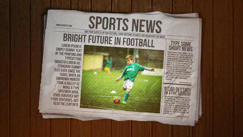 Newspaper Intro After Effects Template