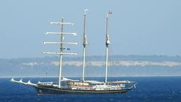 Old Sailboat Or Sailing Vessel Live Action