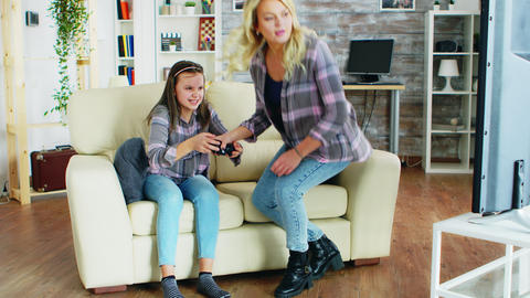 Bad behavior of little daughter after her mother took her controller Live Action