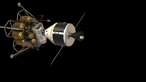 Undocking The Descent Module From The Spacecraft. Alpha Matte GIF