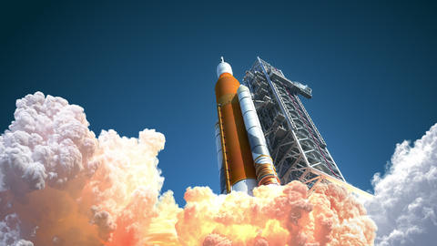 4K. Space Launch System Takes Off GIF