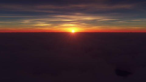 4K. Sunrise Above The Clouds GIF
